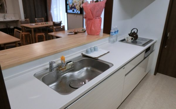入居者様とコミュニケーションの取れるオープンキッチン