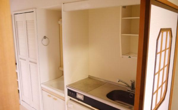 全室にミニキッチン・洗面・広い収納があります。※柿田川が水源の水ですので、そのまま飲むことのできる美味しいお水です