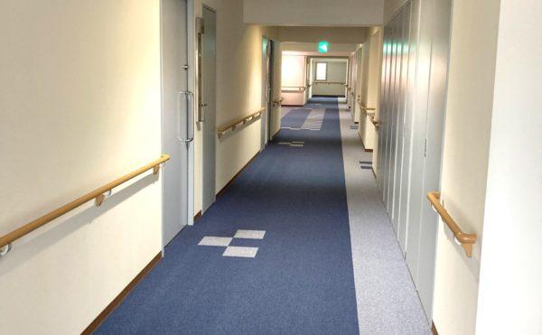 カーペット式の廊下です。