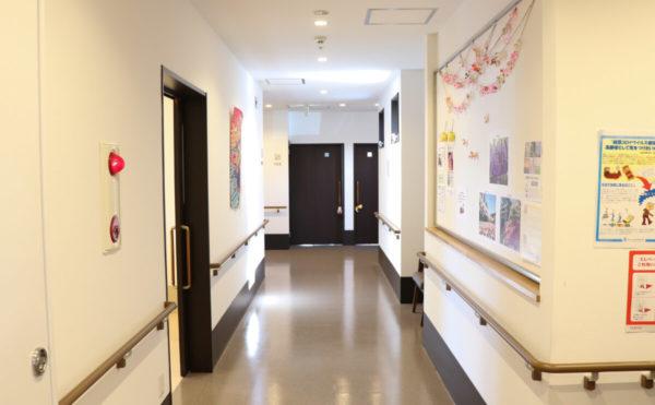 廊下 ご入居者様の展示物もたくさんあり、賑やかな印象です。