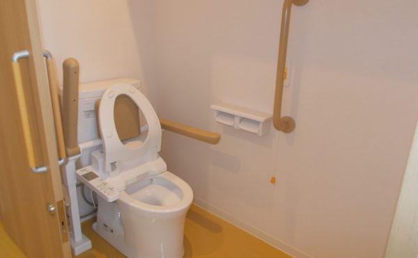 居室内トイレは上に棚が有ります。