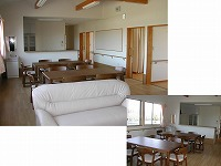 リビング・食堂 アットホームな雰囲気で毎日を過ごせる空間・リビングと食堂を紹介しています。(グループホーム 都の家)