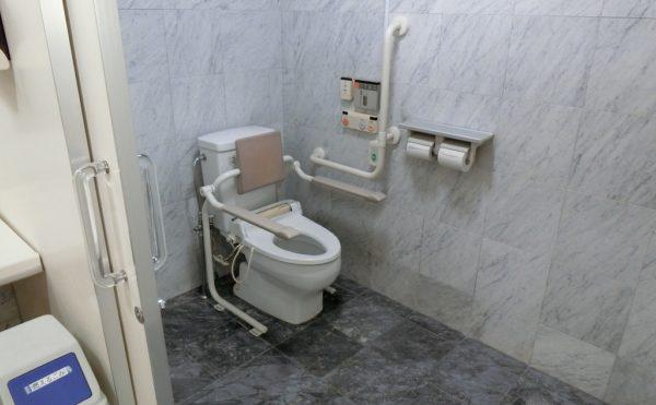 綺麗で広いお手洗い 清潔感があり広い空間に手すりが配置され、安心して利用することが出来ます。(ベストライフ御殿場)