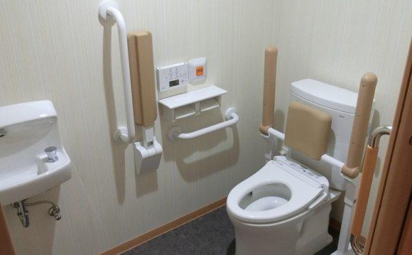 居室トイレ 居室には一体スペースとしてトイレが設置されていて安心してご利用する事が出来ます。(富士山するがテラス)