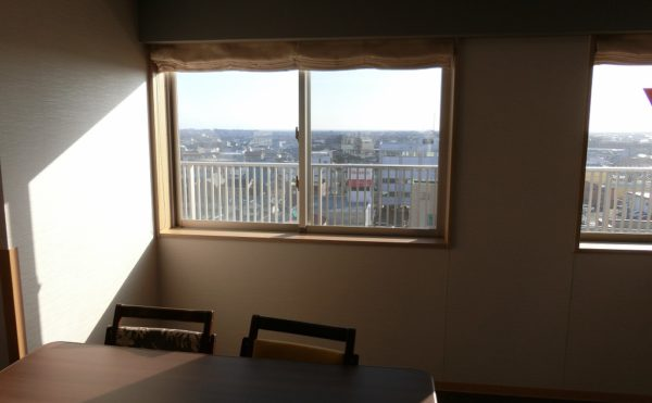 7階から駿河湾側の眺望 7階という高い位置から街や駿河湾を一望する事が出来る施設となっています。(富士山するがテラス)