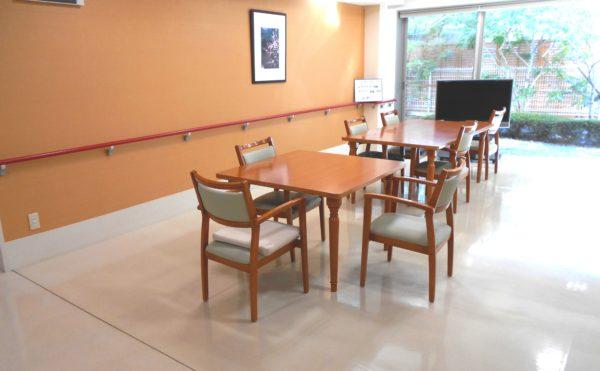 談話コーナー 大きな窓があり、開放感抜群の空間で集団で談笑できる憩いの空間です。(プレミアムハートライフ千代田)