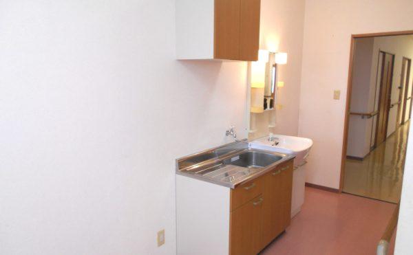 居室内キッチン 居室には洗面とミニキッチンが設置されて快適に過ごす事が出来ます。(ピュアライフ中田本町)