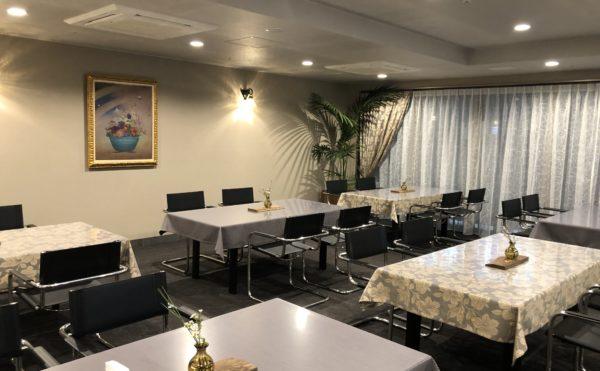 レストラン ラウンジからの続きのレストランも格調高く毎日の食事が楽しみになります。(ロングライフ・クイーンズ静岡呉服町)