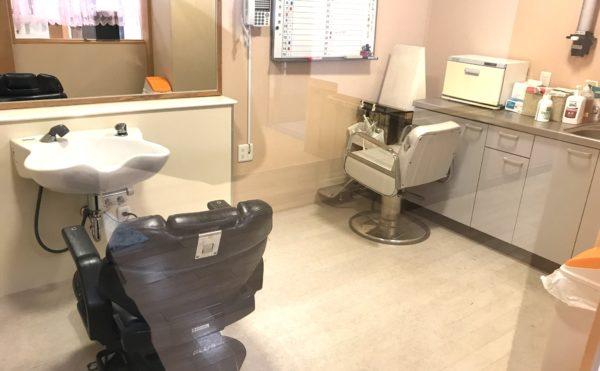理美容室  清潔感のある理美容室を快適に利用することが出来ます。(グランフォレストしずおか葵の森)