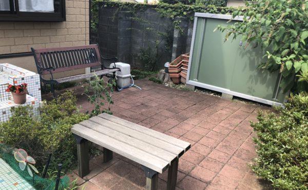 中庭 中庭にはテラスベンチが設置されていて穏やかに屋外で過ごすことが出来ます。(グループホームケアクオリティ和音)