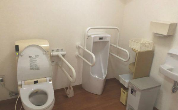 共有トイレ 広い空間で手すりが適所に配置されて安心して利用する事が出来ます。(グループホームケアクオリティ望静大前)