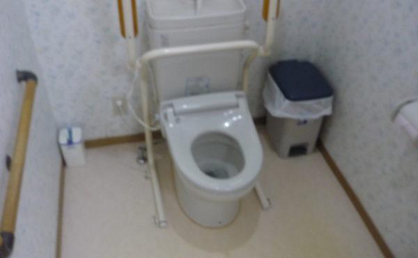 トイレ 清潔感のある空間に手すりがきちんと配置されていて安心して利用する事が出来ます。(グループホーム東山)