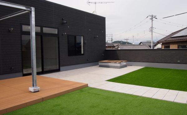 開放的な屋上空間