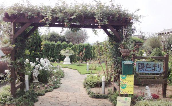 「陽だまり」ガーデンゲート 綺麗に作られたイングリッシュ・ガーデンの入り口になります。(グループホーム今日香)