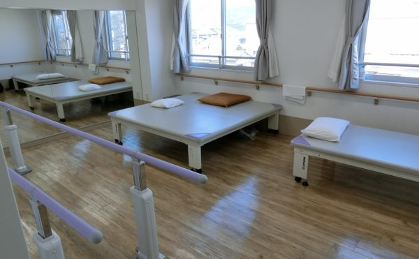 施設内に機能訓練スペースがあるのは希少です。