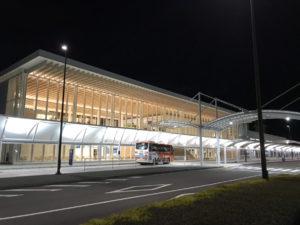 富士山静岡空港の外観。